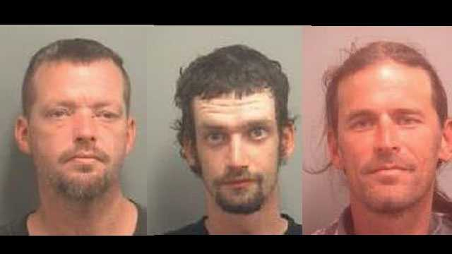 William Eakin, Nicholas Griffin and Robert Gaudreau face charges of first-degree arson.