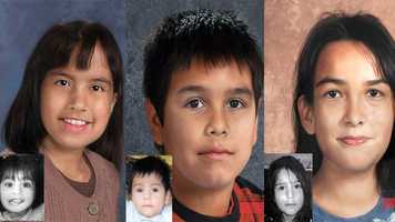 Genesis, Geraldo & Germain Duarte, ages now 11, 8 & 10: Missing from Sebring. Genesis' photo is shown age-progressed to 11 years, Geraldo's photo is shown aged to 8 years, and Germain's photo is shown aged to 10 years. They were last seen on January 23, 2006. They may be in the company of their mother. They may have traveled to Winston-Salem, North Carolina.