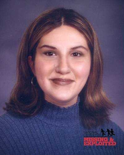 Wendy Hudakoc, age now 29. Missing from Naples. Wendy's photo is shown age-progressed to 24 years. She was last seen leaving a party with an adult male on November 15, 1998. Wendy has braces on her teeth, a scar on her left hand, and a birthmark on the back of her neck.