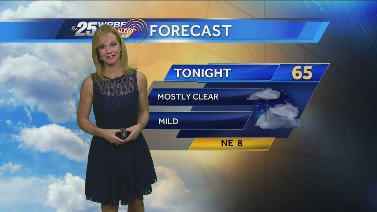 Sandra says Monday will be mostly sunny with a light breeze throughout the day.