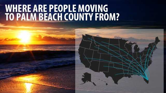 Almost every state in America sent new residents to Palm Beach County from 2007-2011. Find out which states experienced the largest exodus to our area. (Data from flowsmapper.geo.census.gov)