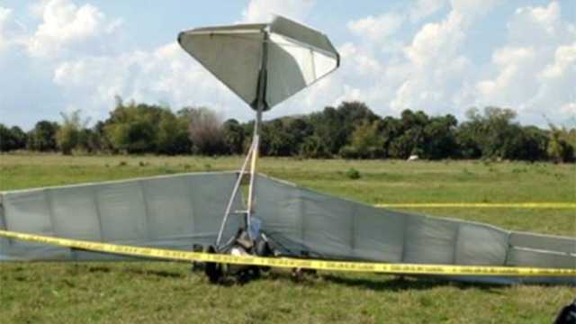The pilot who crashed this ultralight aircraft on Sunday died the following day.