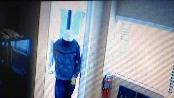 Burglar Caught On Surveillance