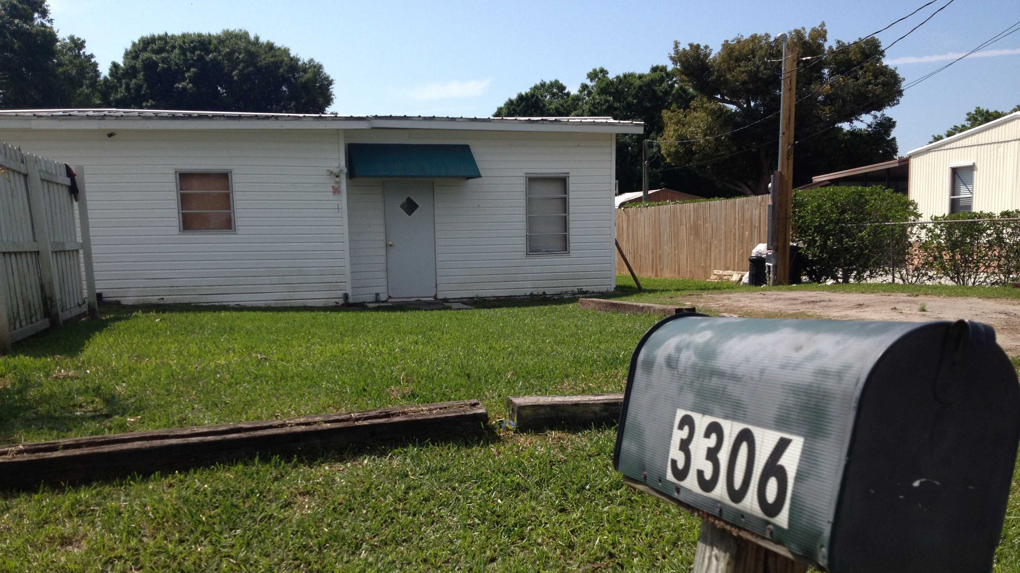 A man was shot during a home invasion at this house in Okeechobee on Sunday night.