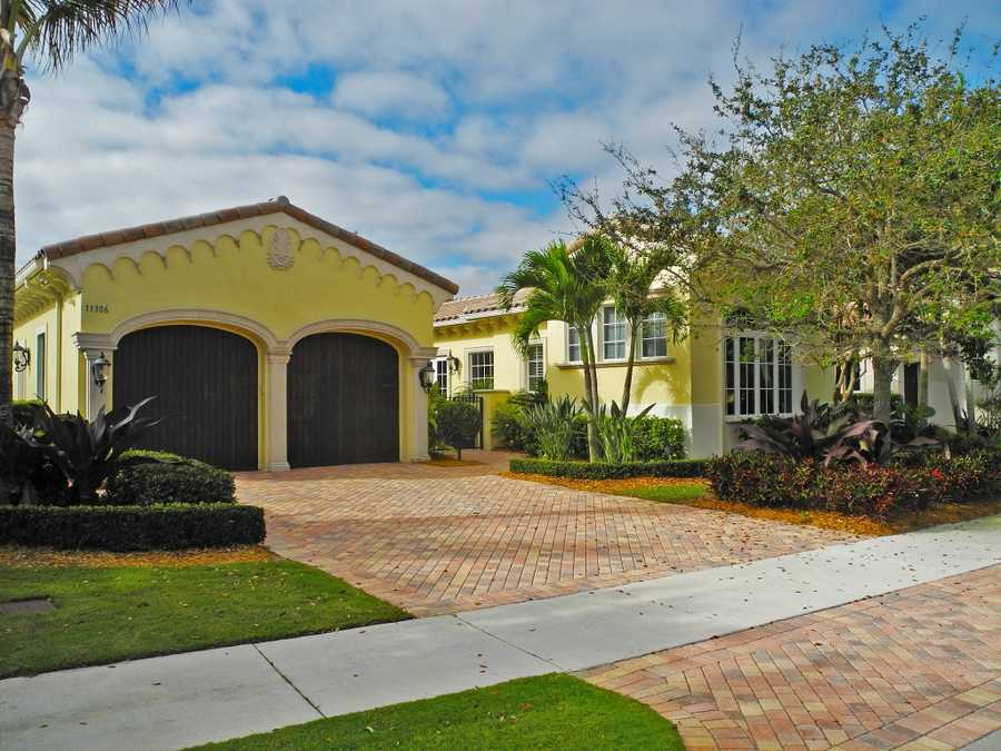 The home has a 2-car garage, which also as room for a golf cart.