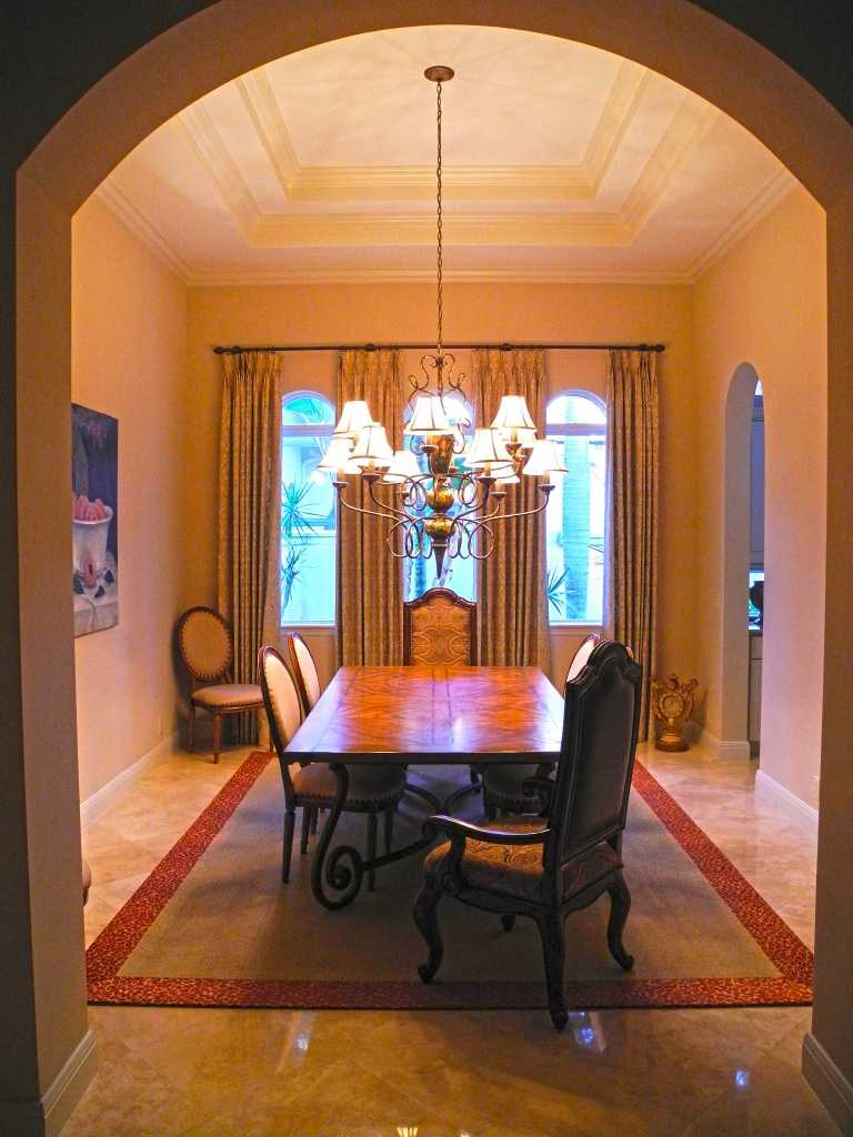 Traditional-style formal dining room.