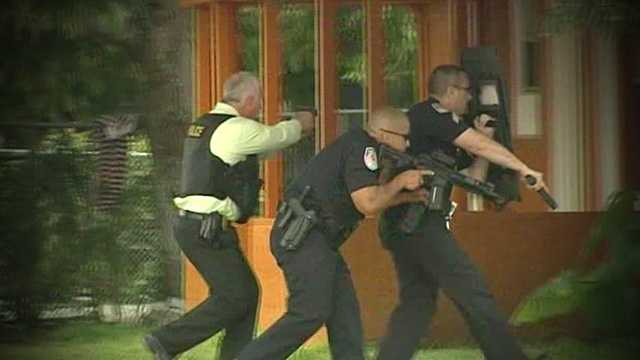 Tense moments were caught on camera by WPBF 25 News in Fort Pierce on Monday, as four people were taken into custody following a deadly shooting.