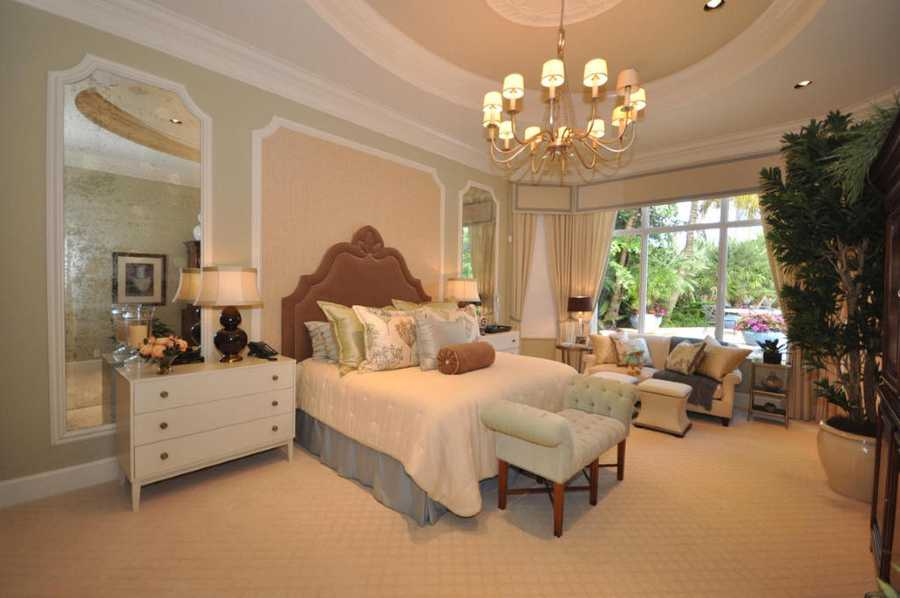 The home has not one, but two master suites. This one is slightly more extravagant.