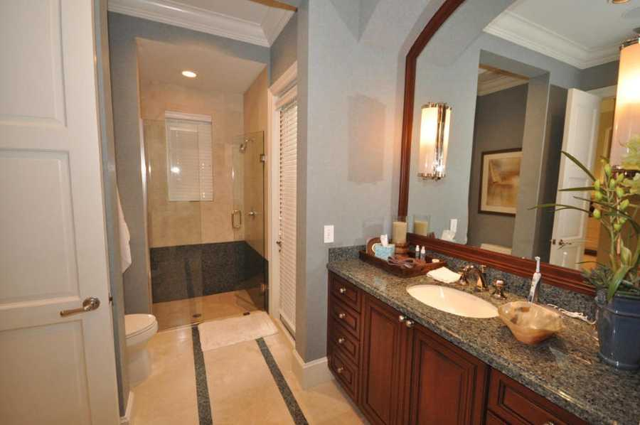 View of a guest bathroom.