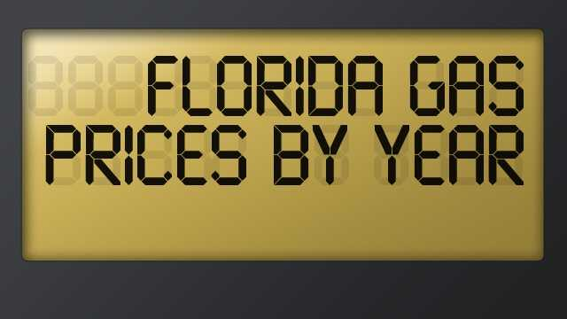 Take a look at the average price of a gallon of unleaded gasoline in the state of Florida through the years. The data is provided by the Bureau of Labor Statistics.