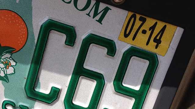 Generic Florida License Plate Tag