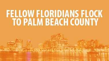 Almost every county in Florida sent new residents to Palm Beach County from 2007-2011. Find out which counties experienced the largest exodus to our area. (Data from flowsmapper.geo.census.gov)
