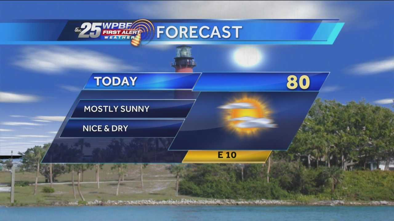 Felicia says a mix of sun and clouds will produce a comfortable Tuesday around town, with temperatures in the mid and high 70s.
