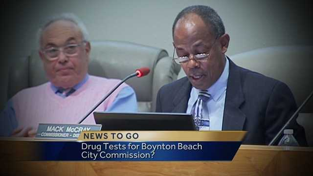 Boynton Beach city commissioners could be drug tested if David Merker (left) has his way.