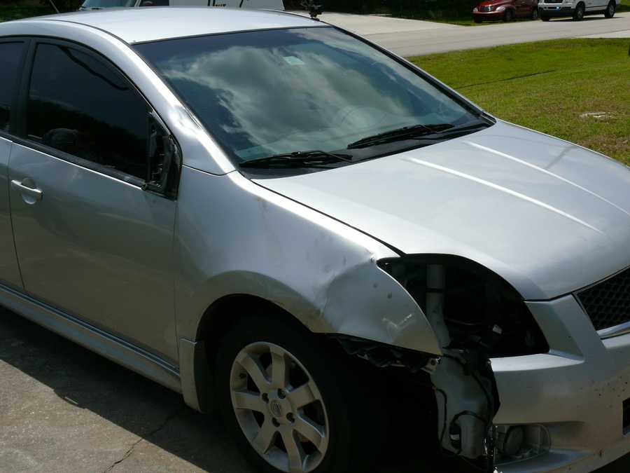 This is a picture of the car that struck -- and ultimately killed -- a local teen who was walking to school on the morning of April 7.
