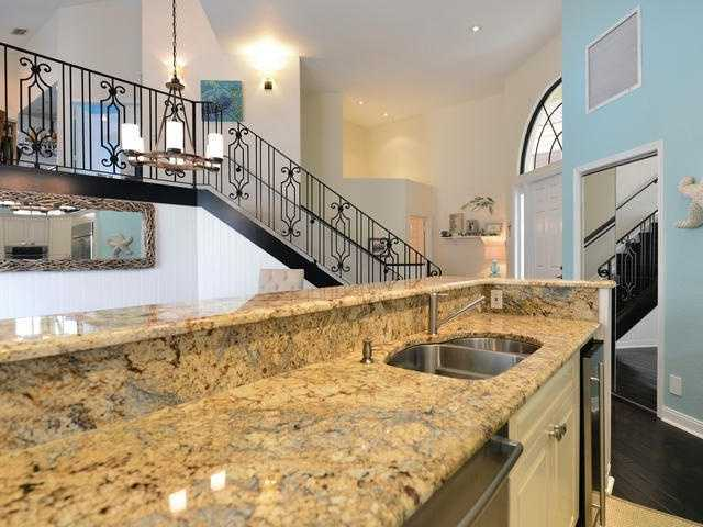 And when you wake up each morning, you can take this staircase directly into the kitchen.