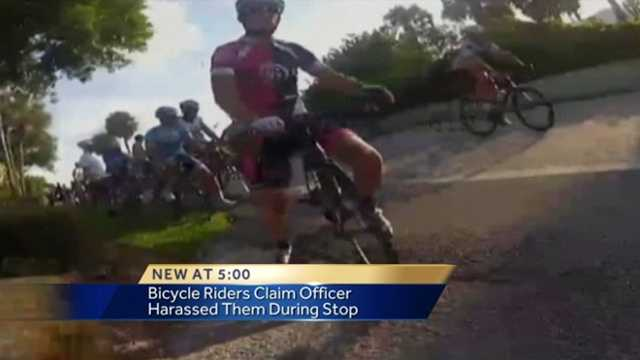 A cycling group rides bikes along A1A between Boca Raton and Manalapan twice a week, but a recent run-in with officers has them alleging harassment.