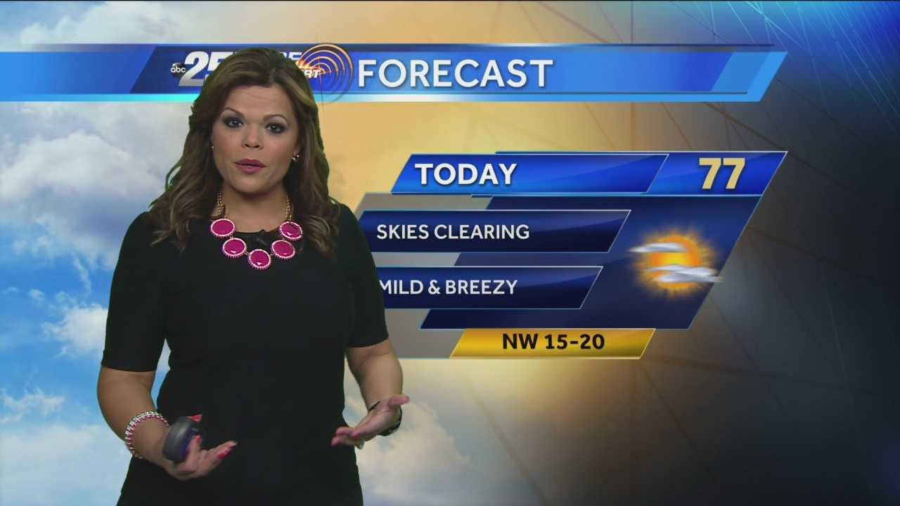 Felicia says a comfortable Wednesday follows a cool start. Clear conditions and sunny skies are expected.