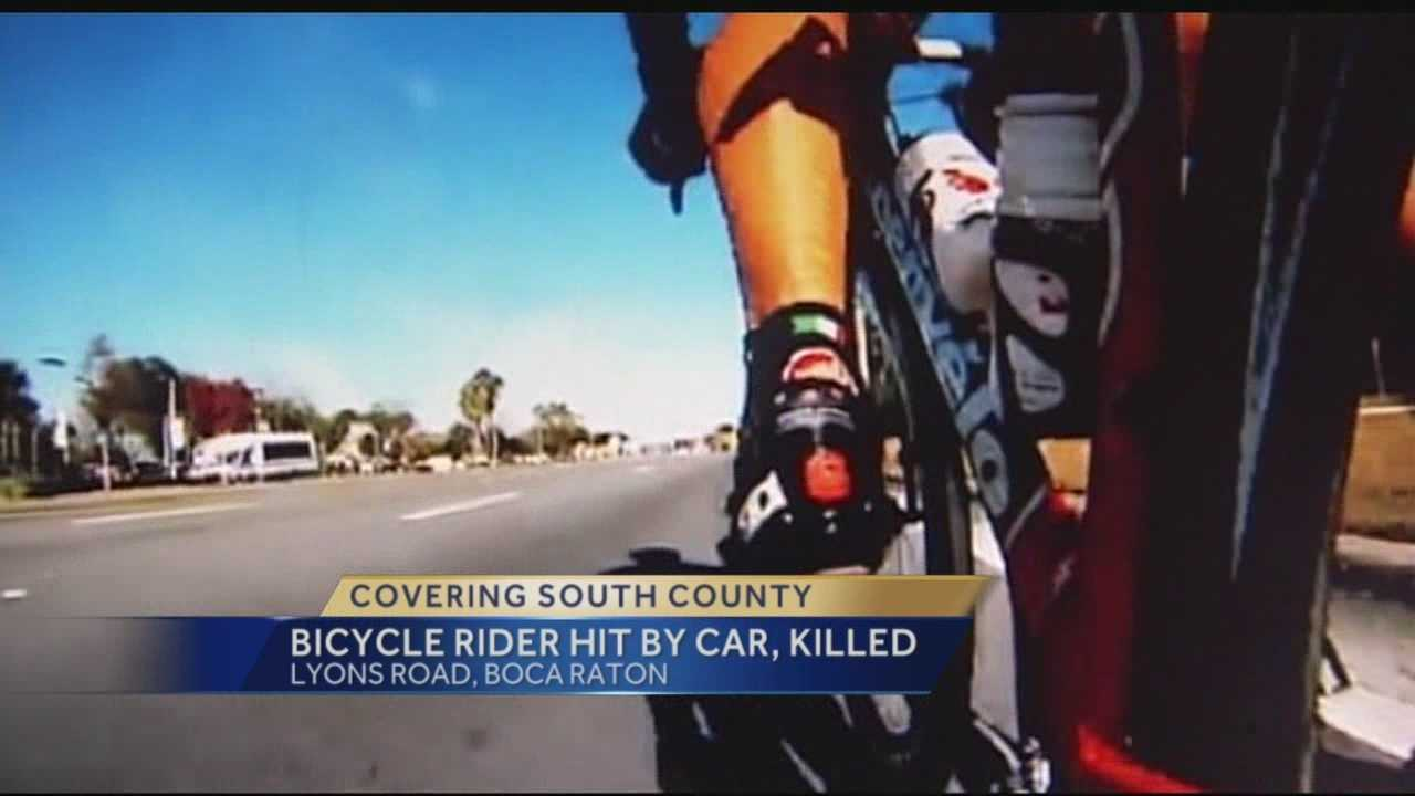 The bicyclist who was killed Wednesday in Boca Raton has been identified, as has the woman who was driving the minivan that struck him.