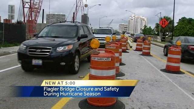 Image Construction project on Flagler Bridge overdue, but what about hurricane traffic?