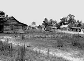 Abandoned sawmill settlement. (1940s)