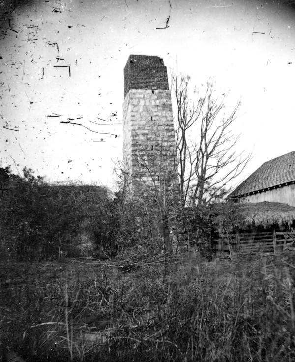 Dr. Joseph Addison Braden's sugar mill in Bradenton, Florida. It was destroyed by Union soldiers and abandoned in 1864. (1890s)