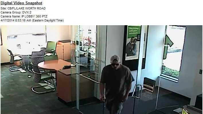 Take a look at these photos of a man robbing a TD Bank branch in Greenacres on Thursday. Anyone who recognizes him is asked to call police.