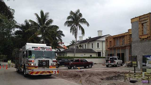 APRIL 22: Three construction workers were injured -- one of them seriously -- when 2,000 pounds of steel, concrete and wood fell on them at a site in Boca Raton on Tuesday.