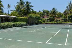 Har-Tru tennis court.
