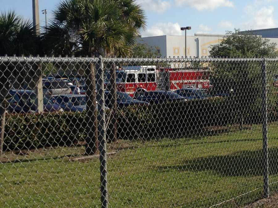 APRIL 30: Crews responded to West Boca Raton Community High School Wednesday morning after a car struck two students in the parking lot.