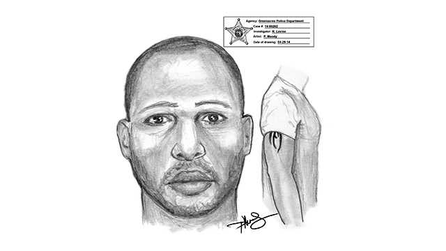 Police released a sketch of the man who forced a woman into his car before she was able to escape.