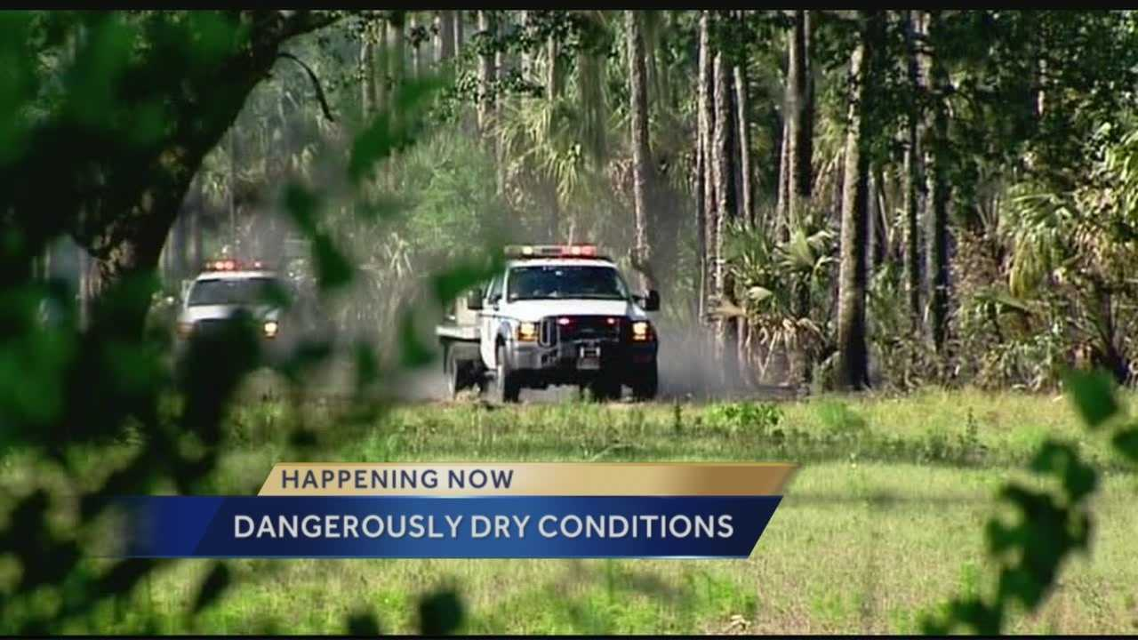 Dry weather is keeping Florida Forest Service officials on their toes on the Treasure Coast this week.
