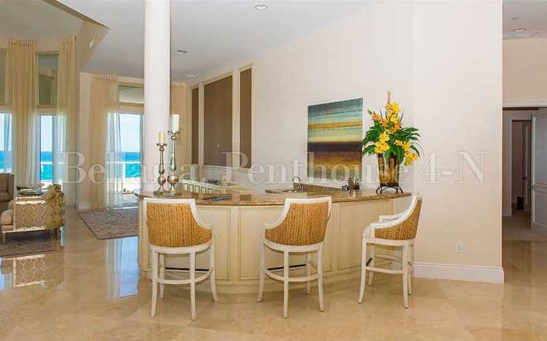 In the formal living room, there is also a beachfront bar.