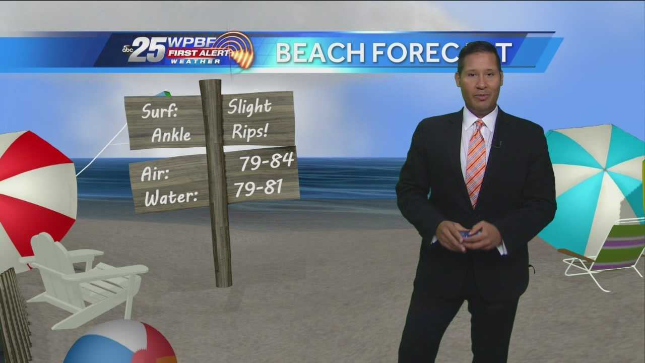 Cris says South Floridians can enjoy another beautiful day at the beach on Wednesday.