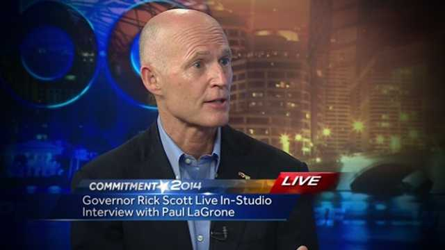 Gov. Rick Scott visited the WPBF 25 News studios Wednesday morning, and covered a wide range of topics including medical marijuana, tax cuts and of course his Democratic opponent Charlie Crist.