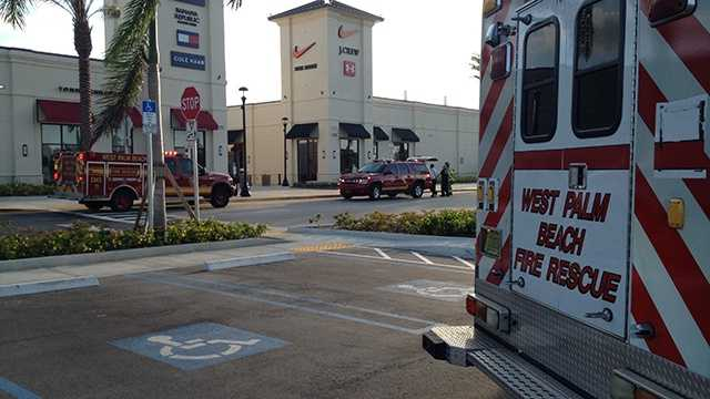 MAY 8: A small gas leak was quickly capped at the Palm Beach Outlets early Thursday morning.