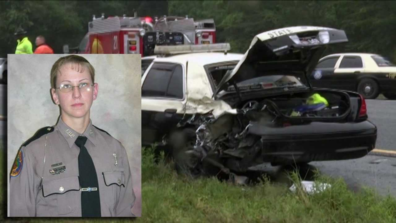Scott joined hundreds of law enforcement officers at the funeral Thursday for Master Trooper Chelsea Richard. She died May 3 being after being struck by a vehicle while standing alongside Interstate 75 near a traffic accident.
