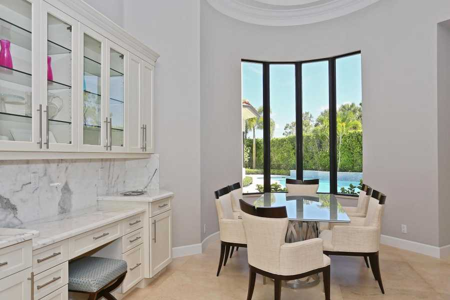 Cozy dining nook for casual family meals.
