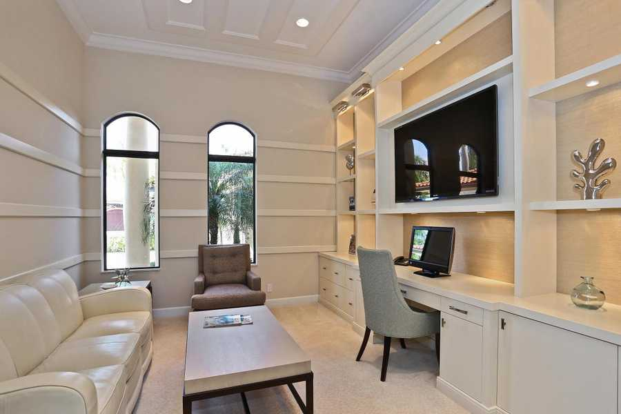 A lush and luxurious office space.