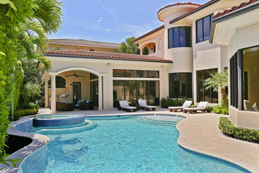 The beautiful outdoor space also includes a summer kitchen. Pound for pound, this 7,684 sq. ft. property is truly a gem in Palm Beach Gardens.For more information on this property visit Realtor.com.