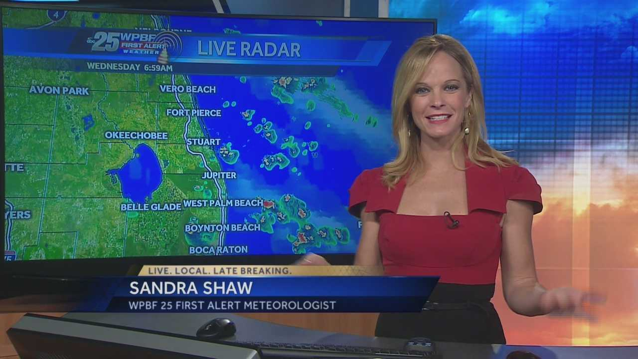 Sandra says showers are on tap around town Wednesday, and some of them could be strong or severe.