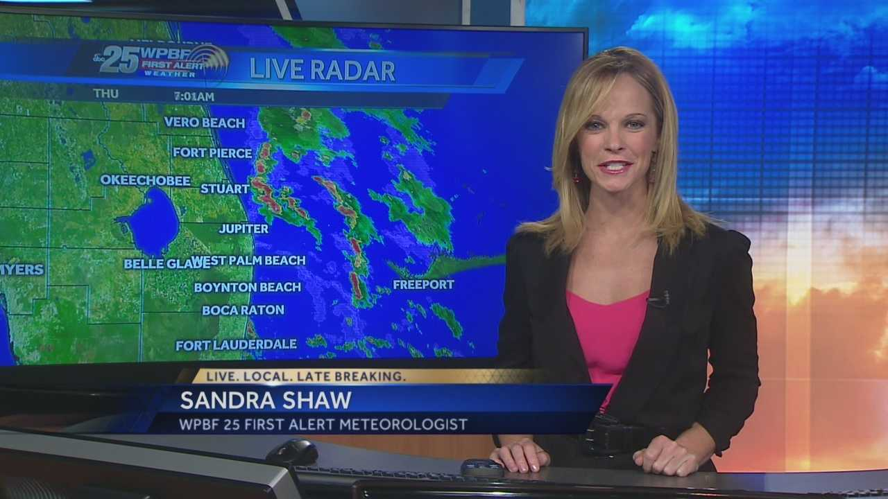 Sandra says a wet Thursday is on tap, with showers likely throughout the area and storms possible in some parts of town as well.