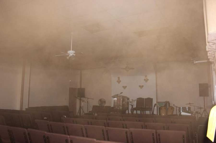 MAY 15: Firefighters encountered thick, black smoke after responding to a blaze at a church in Lake Worth on Thursday morning.