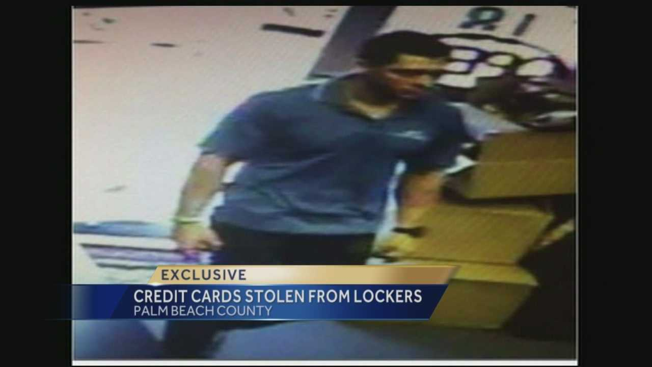 Boynton Beach police have released a photo of a man that they believe may be the suspect who stole credit cards, wallets and cash from the lockers of a Boynton Beach LA Fitness to buy hundreds of dollars worth of merchandise.