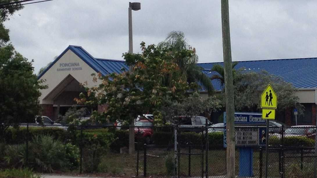 Police say a fight which broke out between two parents caused the Poinciana Elementary School in Boynton Beach to be on lock down on Friday morning.