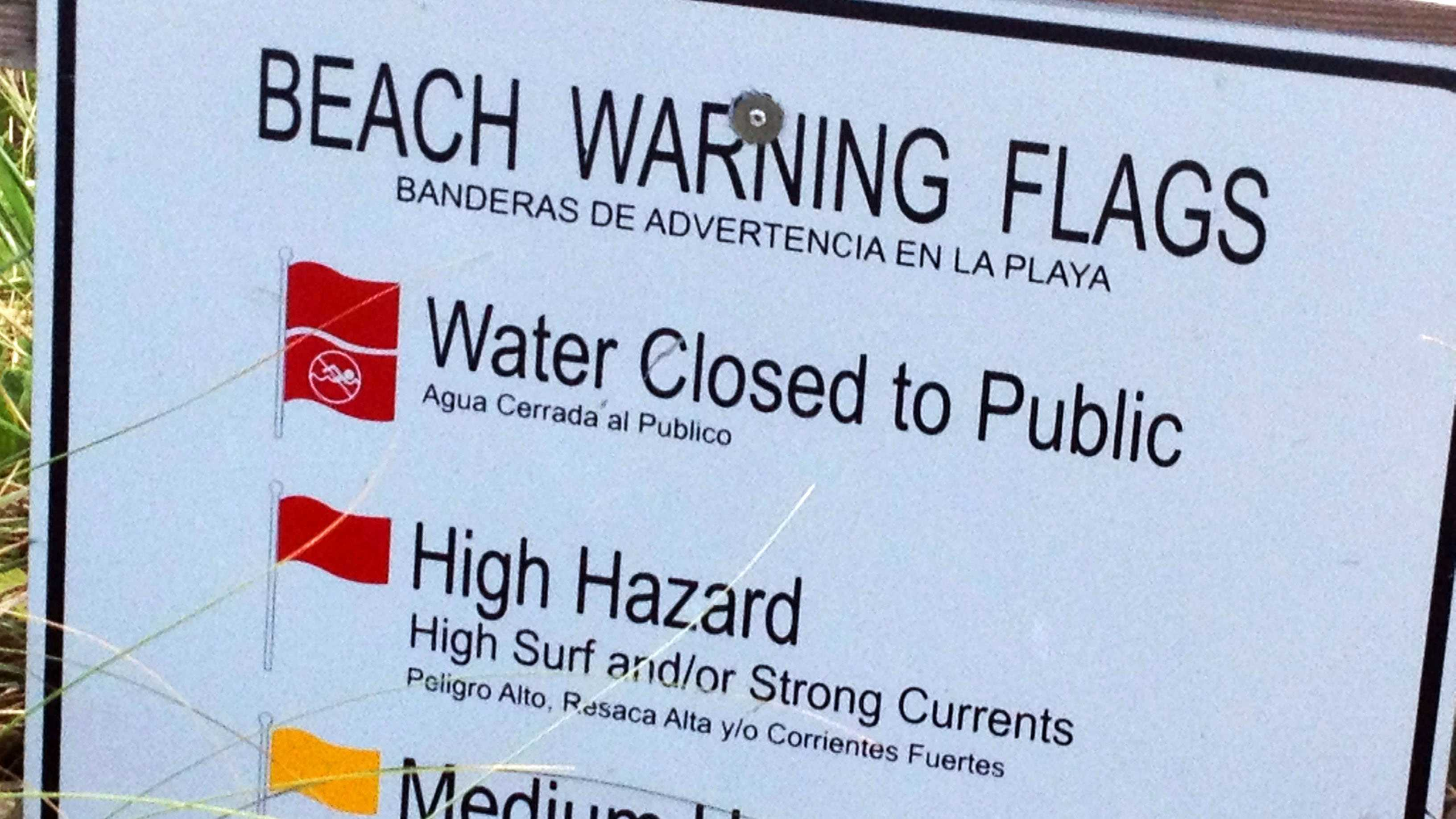 Beach lifeguards are warning swimmers to use caution when out in the water due to high surf and rip currents.