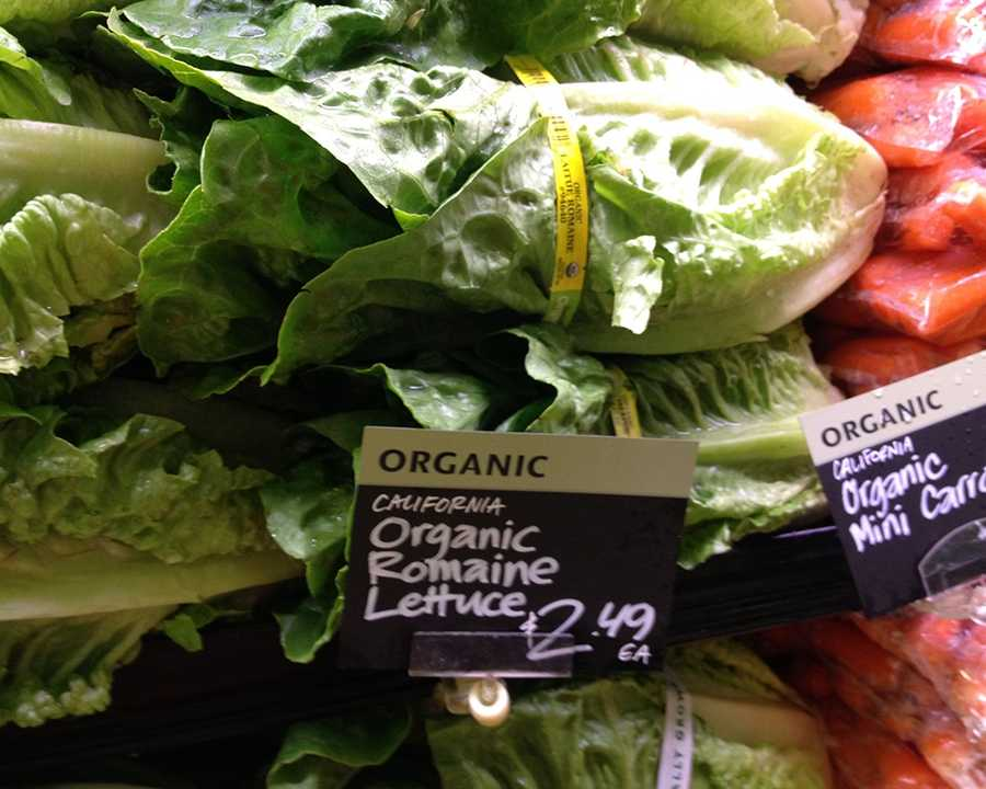 Organic Romaine Hearts at Whole Foods: $2.49