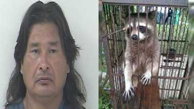 Port St. Lucie Police arrested David Watson during a drug bust for possession of Human Growth Hormone (HGH), cocaine and marijuana. Police also found a raccoon inside a birdcage during a search warrant in Port St. Lucie.