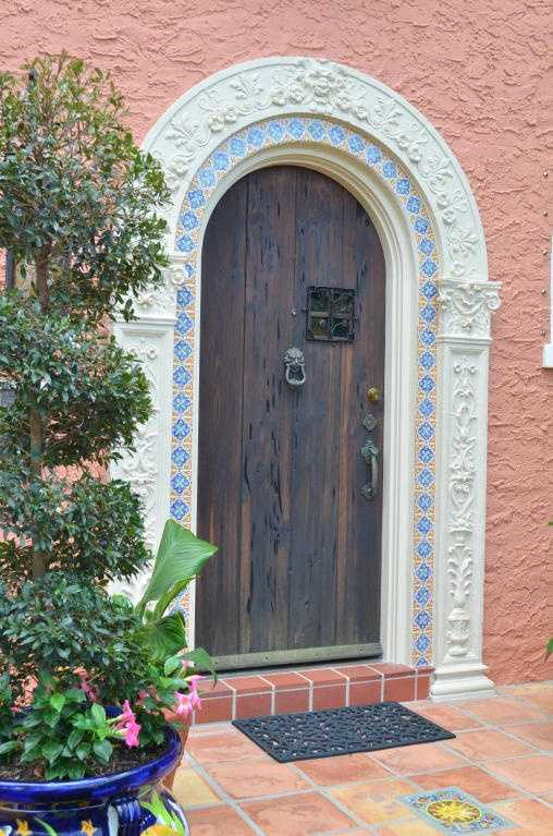 The home's exterior broadcasts its historic charm.