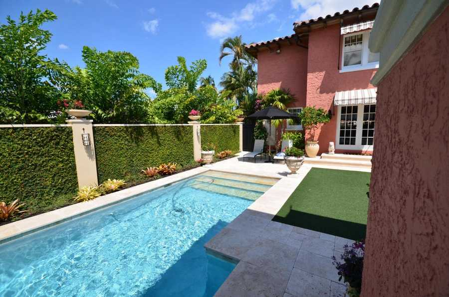 The pool is quite large and the outdoor area is very accommodating for pool parties.